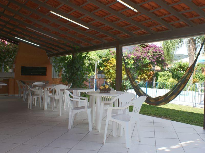 Área Comum com Churrasqueira - Residencial Araras, Ponta das Canas, Florianópolis, Brasil